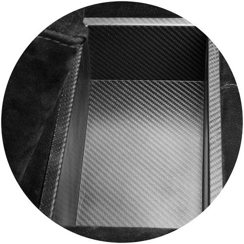 תא אחסון MOOVIA בגימור קרבון שחור
