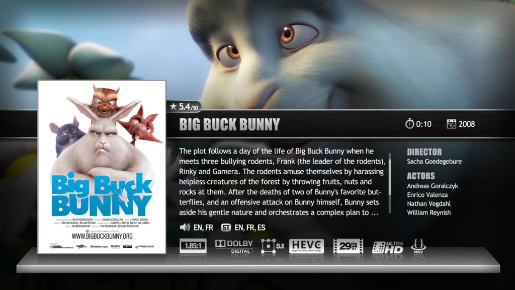Zappiti big buck bunny