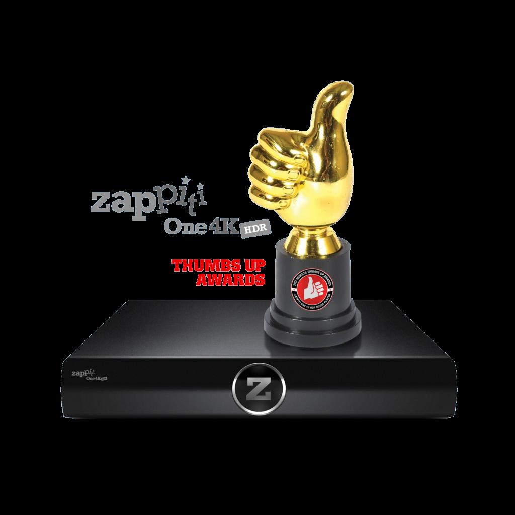 zappiti one 4k hdr secret thumbs up פרס