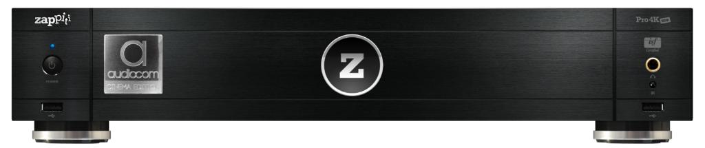 שחור zappiti pro 4k audiocom hdr סטרימר