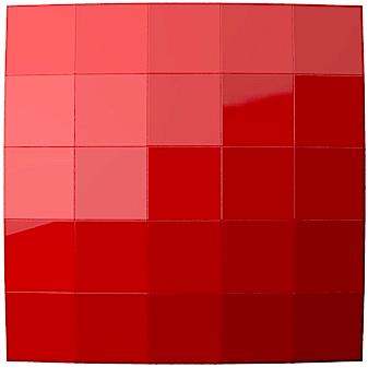 דפיוזר אקוסטי בצבע אדום חברת ARTNOVION