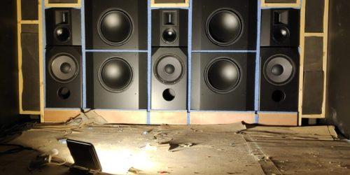 ALCONS AUDIO BLACK SPEAKERS
